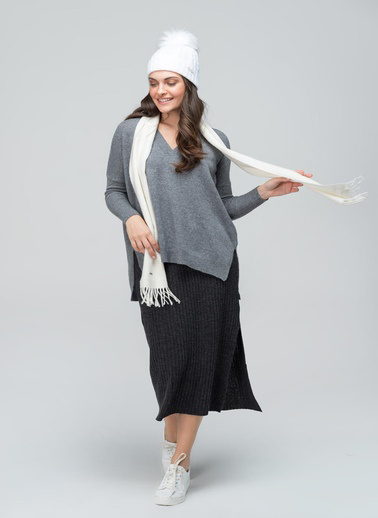 Silk and Cashmere Eldiven Siyah